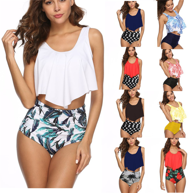 Sports & Entertainment Bikinis Women Swimsuit High Waisted Bathing Suits Fashion Sexy Womens Wear Beach Swimwear Striped Print Bikini Set Swimwear#g9