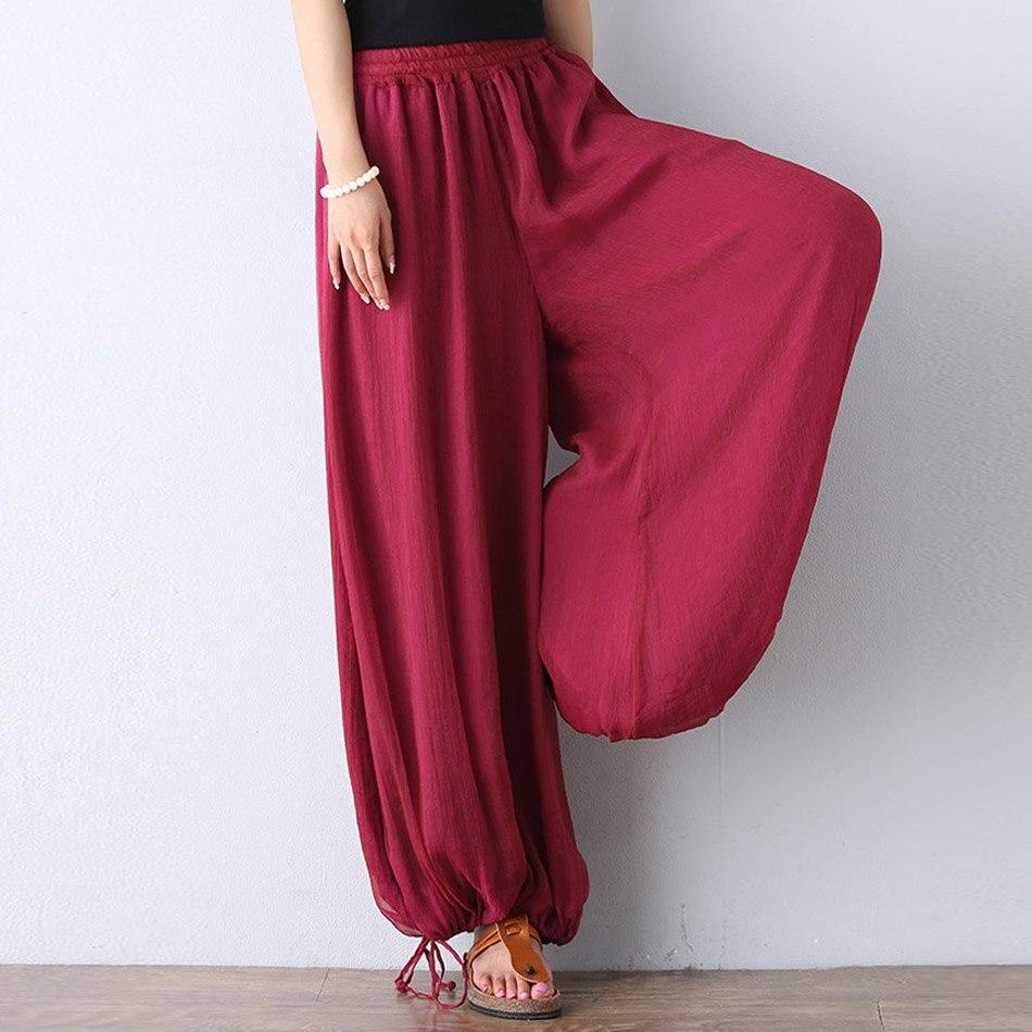 2017 nuevas mujeres pantalones de yoga pantalones harem mono color - Ropa deportiva y accesorios - foto 6