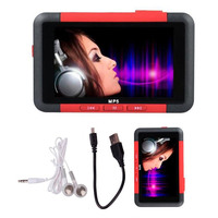Mayitr New Arrival MP4 Red Players 8GB Slim MP3 MP5 Music Video Movie Media Player FM