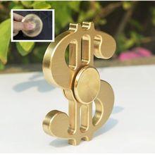2017 горячие продаж сплава Золотой доллар узор ручной блесны Непоседа счетчик долгое время латунь игрушка пальцев гироскопа