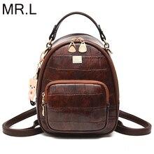 MR.L New Design Leather Backpack Leisure Women Schoolbag Backpacks For Teenage Girls Brand Travel Students PU Bagpack Mochila