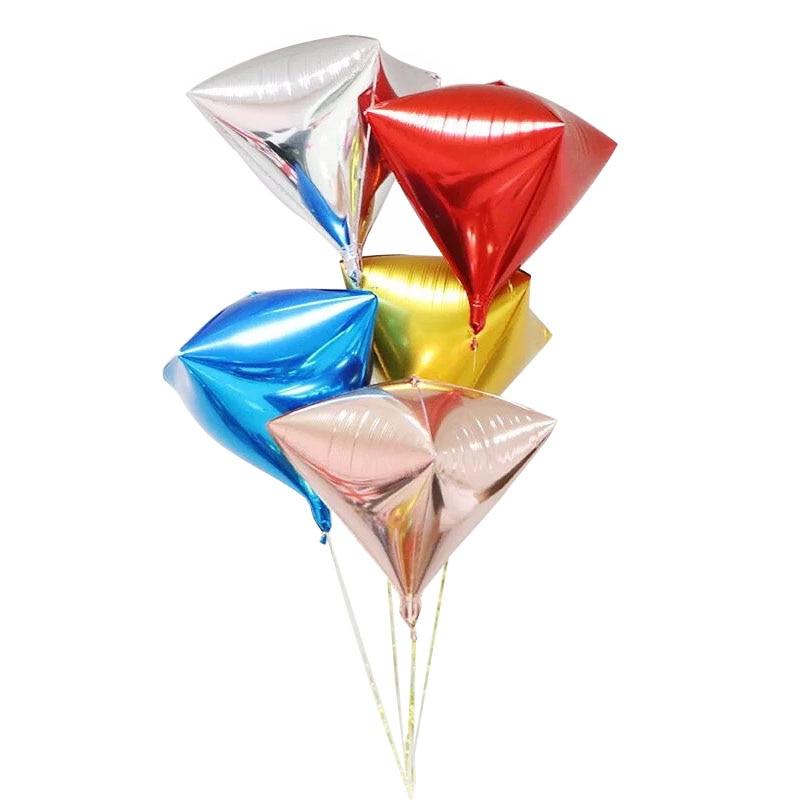 1 PC Rose gold foil balloons 4D Diamondshape balloon wedding birthday party decorations adult kids balony globos ballon mariage