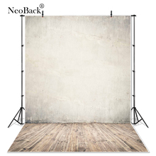 NeoBack Vinyl Lite Rustic Brown Wall Wood Floor Photography Backgrounds Professional Classic Portrait Photo Backdrops Photocall