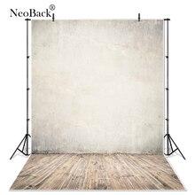NeoBack Vinyl Lite rustykalne brązowe drewno ścienne tło fotograficzne z podłogą tła profesjonalny klasyczny portret Photo Backdrops Photocall