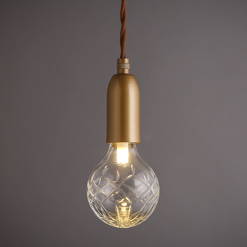 Loft retro golden lighting modern minimalist e27 led crystal glass loft retro golden lighting modern minimalist e27 led crystal glass chandelier coffee shop clothing store decoration lamp lights in pendant lights from mozeypictures Images