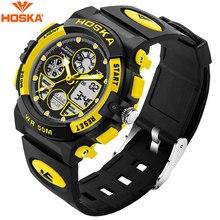 b4746eb05514 HOSKA de los hombres relojes digitales pulsera de caucho negro deportivo de  moda al aire libre de fecha automática LED de fondo .