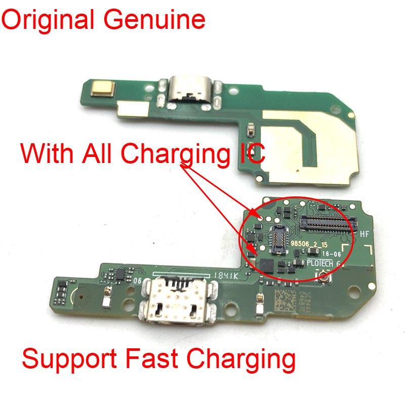 New For Xiaomi Redmi 6 6A USB Power Charging Connector Plug Dock Port Mic Microphone Flex Cable Board
