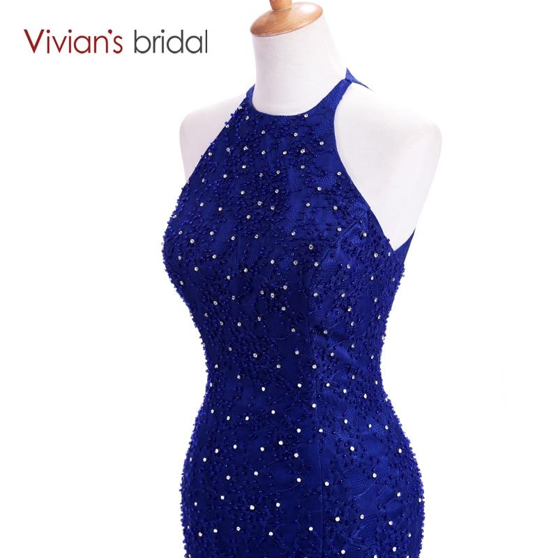 Vivian's svadba Halter bez rukava sirena večernja haljina dugo - Haljina za posebne prigode - Foto 5