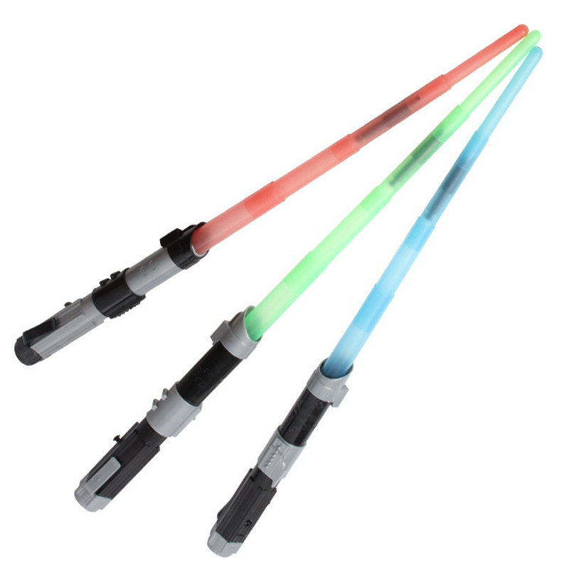 3 colors 65cm Wars Weapon Telescopic LED Light saber Action Figure Toys Cosplay Light and Sounds Party Game Kids Gift