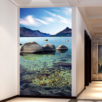 HD Clear River Water Stone Photo Wallpaper Entrance 3D Panel Wall Mural Hotel Living Room Modern
