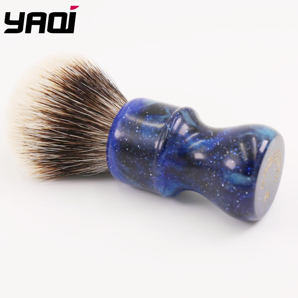 24MM Yaqi Mysterious Space Color Handle Två Band Badger Hair Knot - Rakning och hårborttagning - Foto 4