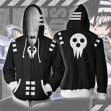 Danime Soul Eater Men Black Star Zip Up Hoodie Sweatshirts Casual Cosplay Zipper Tops Outerwear Coat Outfit sweatshirts outerwear side zipper design women hoodie sweater coat
