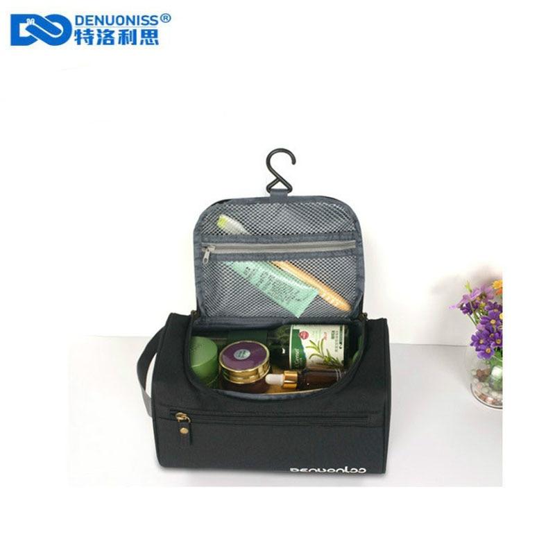 DENUONISS Makeup bag Cheap Women Bags Men Large Waterproof Nylon Travel Cosmetic Bag Organizer Case Necessaries Toiletry Bag