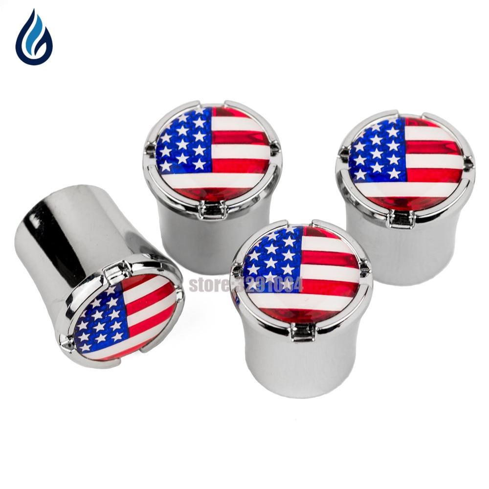 American Flag Logo Car Wheel Tire Valve Caps Cover For Honda Alfa Romeo Giulia Nissan Juke Lexus Toyota Sienna Vw Golf Mk7 Jetta