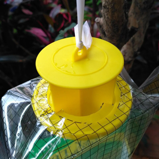 5PCS Flycatcher Bag Home Garden Outdoor Disposable Fly Catcher Control Trap Insecticide Flies Flycatcher Trap Bags