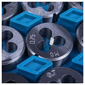 Image 5 - Ensemble de tarauds et de matrices 40 pièces avec boîtier taraud filetage chasse réparation nouveau