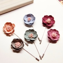 Hot Sell Flower Handmade Brooch Suit Shirt Lapel Pin Badges Large Flower Badges For Women Men Fashion Jewlery New Design