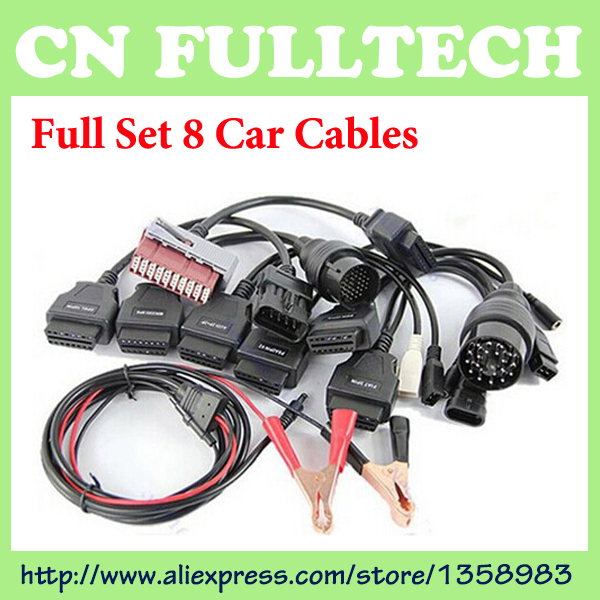 Free Shipping OBD/OBD2 Cable Full Set 8 Car Cables for TCS CDP Pro Diagnostic Connector Car Cable