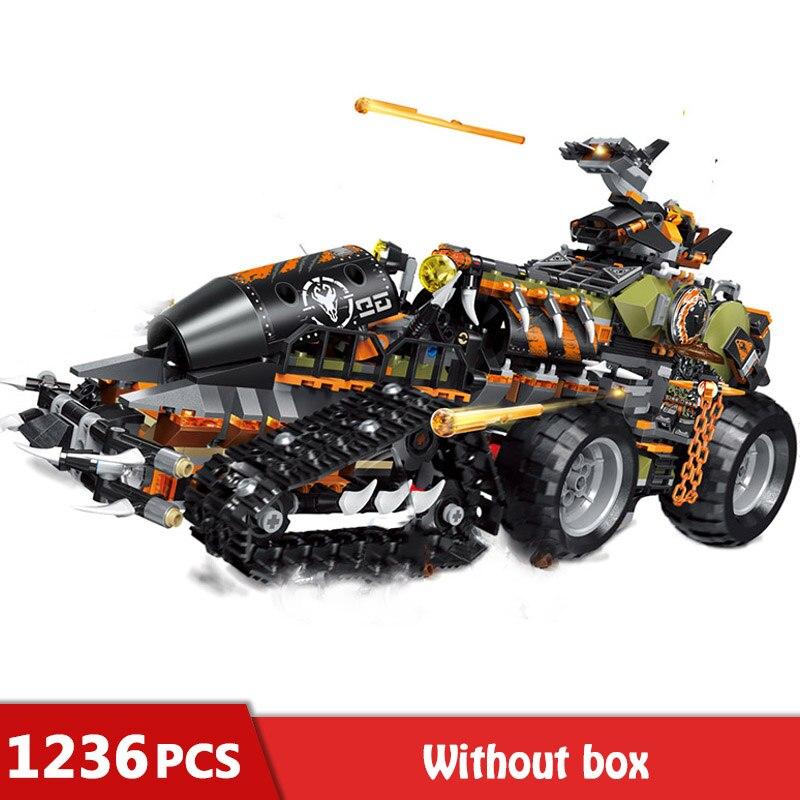 1236 pièces lourds Dragon Catcher camion blocs de construction briques techniques modèle Figure jouets pour garçons enfants GB24