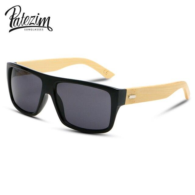 bc857cd80507a Novos Óculos De Sol Dos Homens de Bambu de Madeira De Madeira óculos de Sol  Das