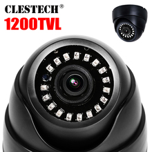 цена на 2019New Nano laser LED 1200TVL HD cctv Camera Dome indoor Security IRcut Infrared Night Vision 30m security Home Video vidicon