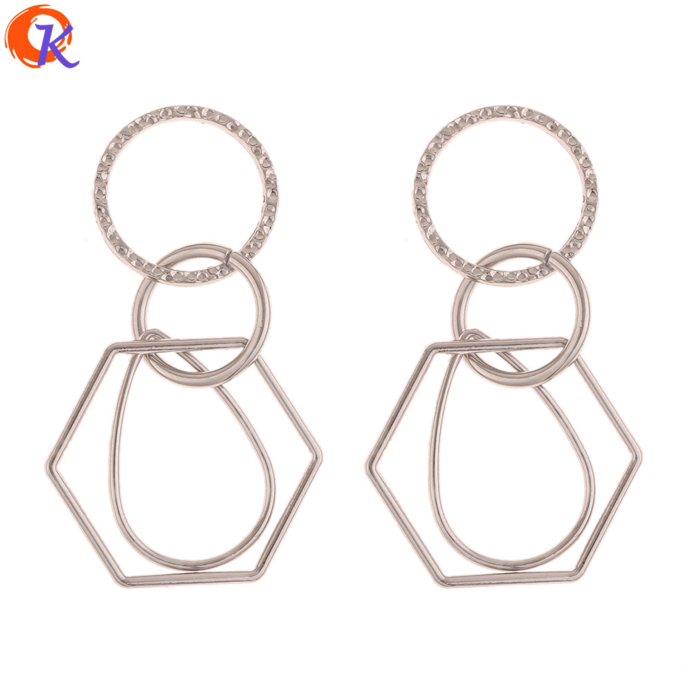 Cordial Design 50Pcs 25*56MM Jewelry Accessories/Hand Made/Rhodium/Ring Shape/DIY Earrings Making/Jewelry Findings Component
