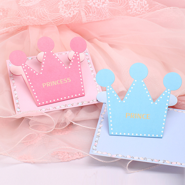 100pcs Crown Greeting Card Cartoon Childrens Day Original Fashion