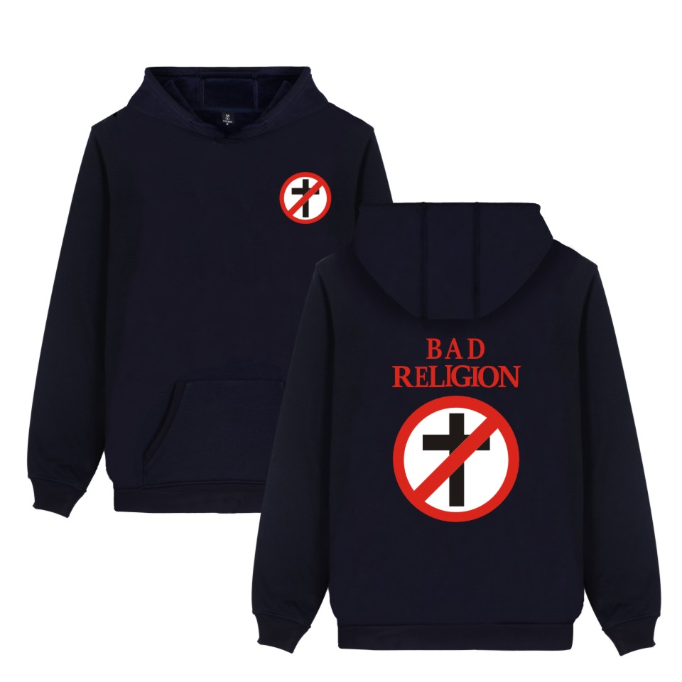 LUCKYFRIDAYF Bad Religion Sweatshirt Hip Hop Oversized Casual Style Winter Sweatshirts Boys Hot Music Fashion Mens Hoodies Pink