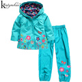 KEAIYOUHUO 2017 Girls Clothes Set Spring Coat For Girl Children Sport Suit Waterproof Outerwear Sets Girls Jacket Kids Clothing