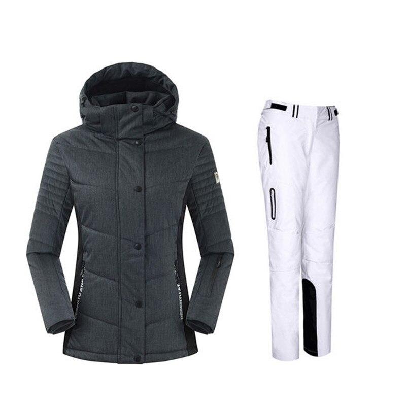Snowboard costumes femmes hiver coupe-vent imperméable femme veste de Ski et pantalons de neige ensembles Super chaud marques femmes Ski costume