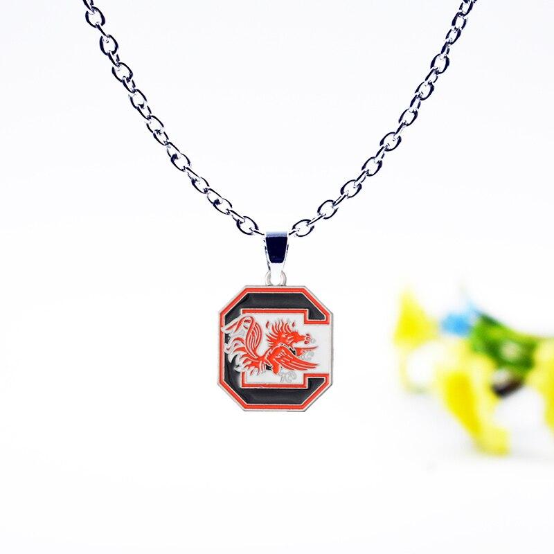 10PCS American University Sports NCAA South Carolina Charm Pendant Necklace Jewelry Enam ...