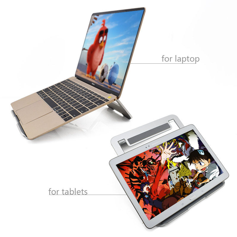 Tablet 10 Inch Stand Aluminium Alloy Notebook Cooling Stand For Tablet Accessories
