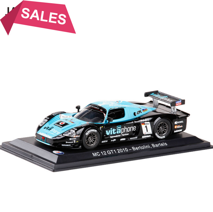 New 1/43 Scale Italy Maserati MC12GT1 2010 #1 Racing Alloy Car Diecast Metal Model Toy For Gift Collection Free Shipping