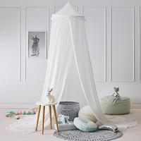 240cm Kids Baby Room Bed Dome Curtain Canopy Chiffon Tassel Hung Mosquito Net Kids Room Decor Hot