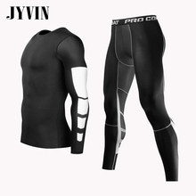 Men MMA Boxing Shorts Compression Pants Rashguard Fitness Long Sleeves Base Layer Skin Tight Men T Shirts(China)