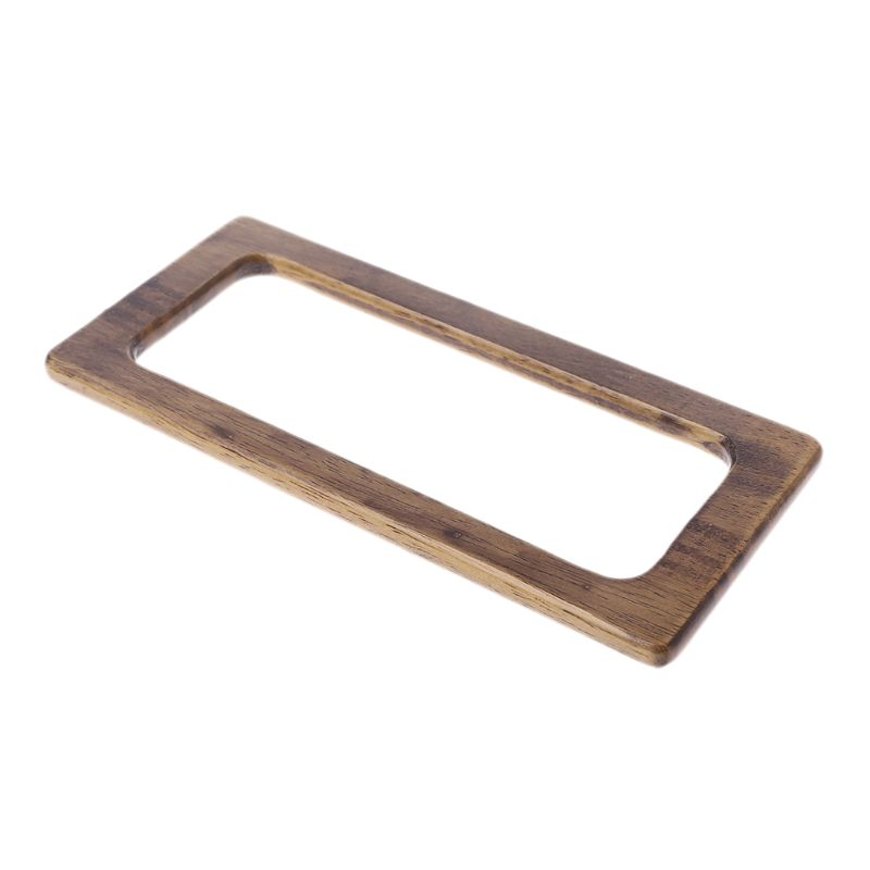 Fashion 1 Pc Wooden Rectangle Shaped Handles Replacement For DIY Craft Making Bag Handbags Purse Shopping Tote Accessories New