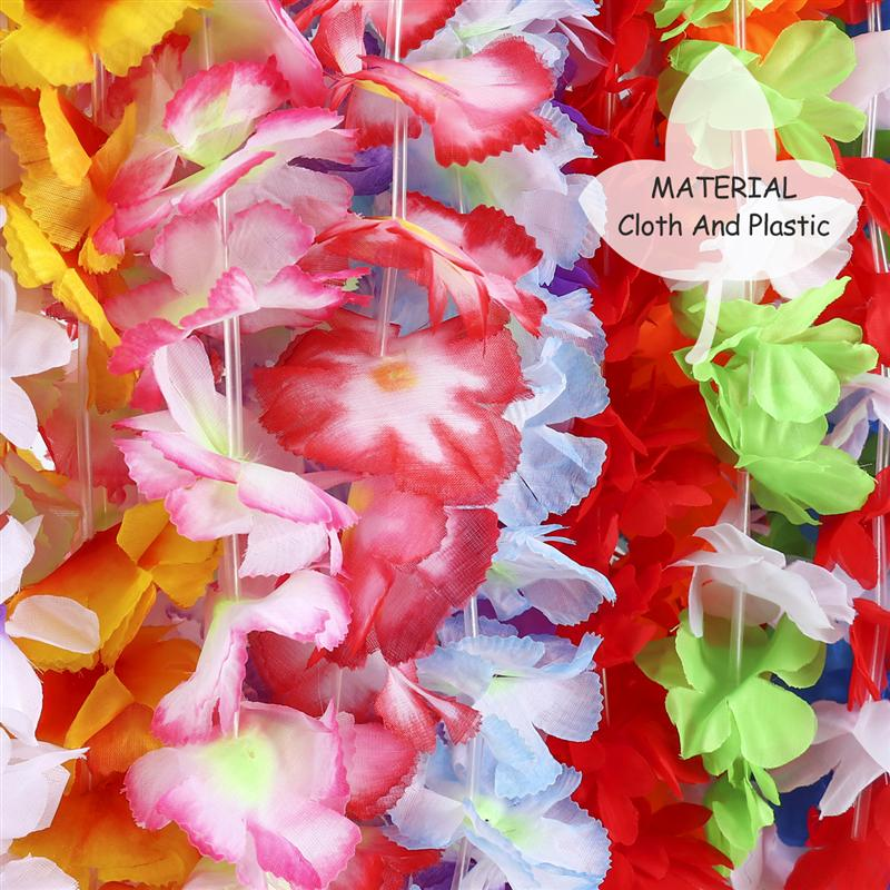 48pcs hawaiian luau floral leis ruffled silk flower leis for holiday 48pcs hawaiian luau floral leis ruffled silk flower leis for holiday wedding beach birthday decorations random colors in wreaths garlands from home mightylinksfo