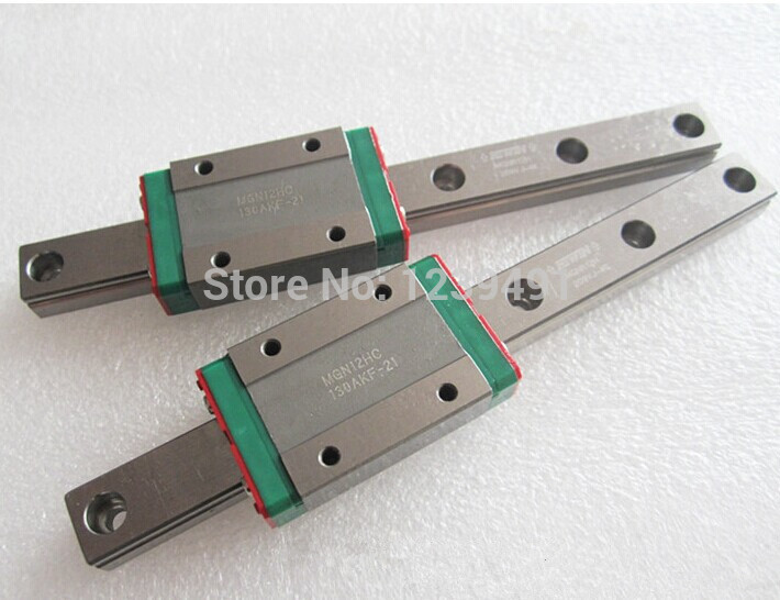 3pcs MGN15 L400mm linear rail + 3pcs MGN15H carriage 3pcs mgn15 400mm linear rail 3pcs mgn15h long type carriage
