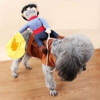 حار بيع الكلب كلب زي الجدة مضحك هالوين الحزب زي كلب كبير الكلب الملابس كاوبوي ركوب الخيل الملابس S-XL