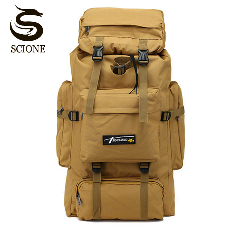 2018 70L Outdoor Backpack Camping Bag Waterproof Mountaineering Hiking Backpacks Molle Sport Bag Climbing Rucksack strong oxygen gazelle 26l backpack outdoor light breathable mountaineering bag double shoulder sport bag