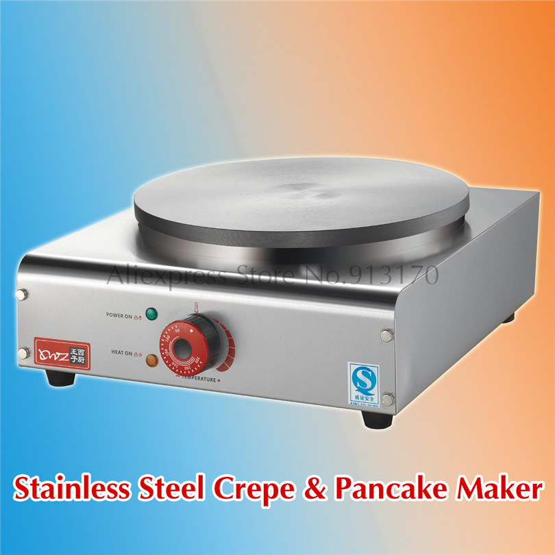 Stainless Steel Crepe Maker Electric Pancake Machine Non Stick Eggs Omelette Breakfast Griddle Machine new crepe maker superior stainless steel electric pancake crepe machine masala dosa maker nonstick cook