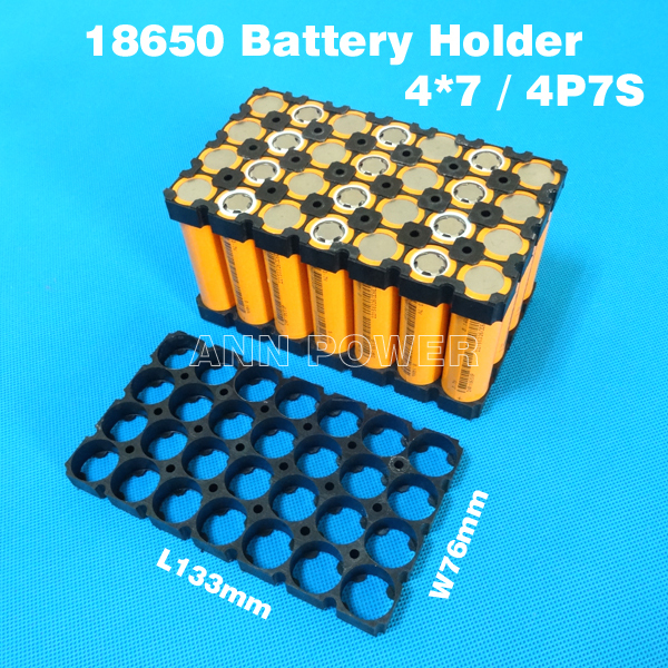 Tool Parts Motivated 18650 Lithium Battery Holder 4*7 28 Holes For 24v Li-ion Battery Pack 4p7s 18650 Batteries Holder Safety Anti Vibration