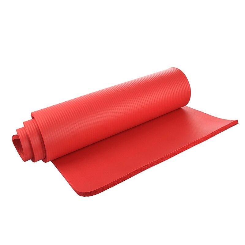 Yoga Mat 15mm Thick Exercise Fitness Physio Pilates Gym Mat Non Slip Crash Mat, Red eva exercise pad thick non slip folding gym fitness mat eva yoga mat pilates supplies non skid floor 4 colors mat