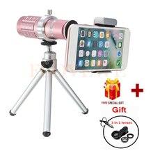 Cheap price HD 12x Telephoto Zoom Lens Telescope For iPhone 7 6 5 4 s Xiaomi Huawei Fish eye Wide Angle Macro lenses Phone Camera Lentes Kit