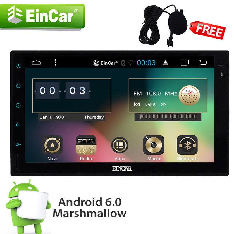 Android 6.0 2 Din Car Stereo/Rádio/sem DVD Player GPS Wi-fi Bluetooth Car styling gravador de fita cassete PC No console Central