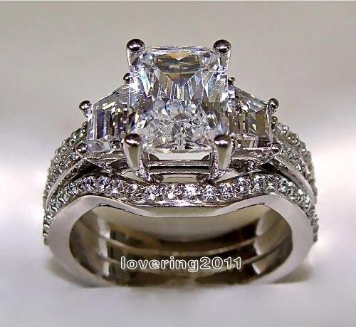 Online Get Cheap White Gold Wedding Ring Set Aliexpresscom