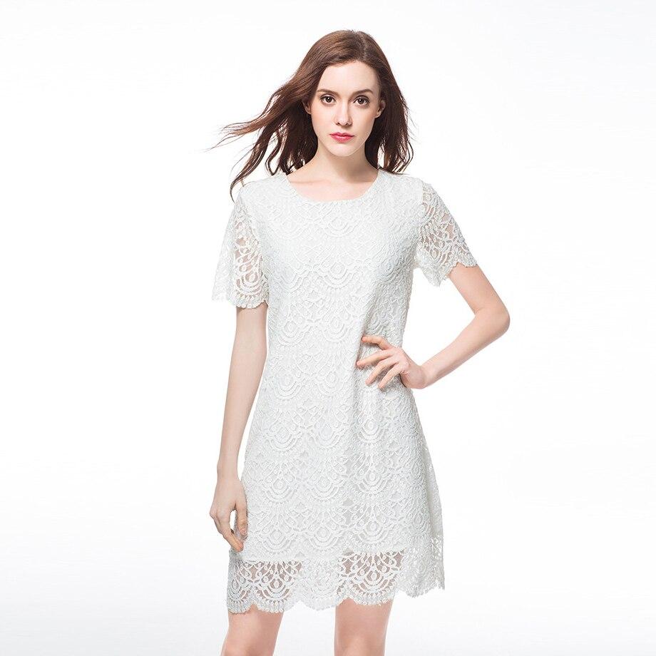 bccbdc040317 Sexy Robes Dentelle Robe Vêtements Mode Dames Blanc Night 2016 Plus De Taille  Party Été Femmes ...