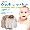 Belva 3-pack 100% Organic Cotton Baby Bibs Natural Burp Cloths No Dyes Baby Waterproof Bibs Absorbent Organic Cotton Muslin 139