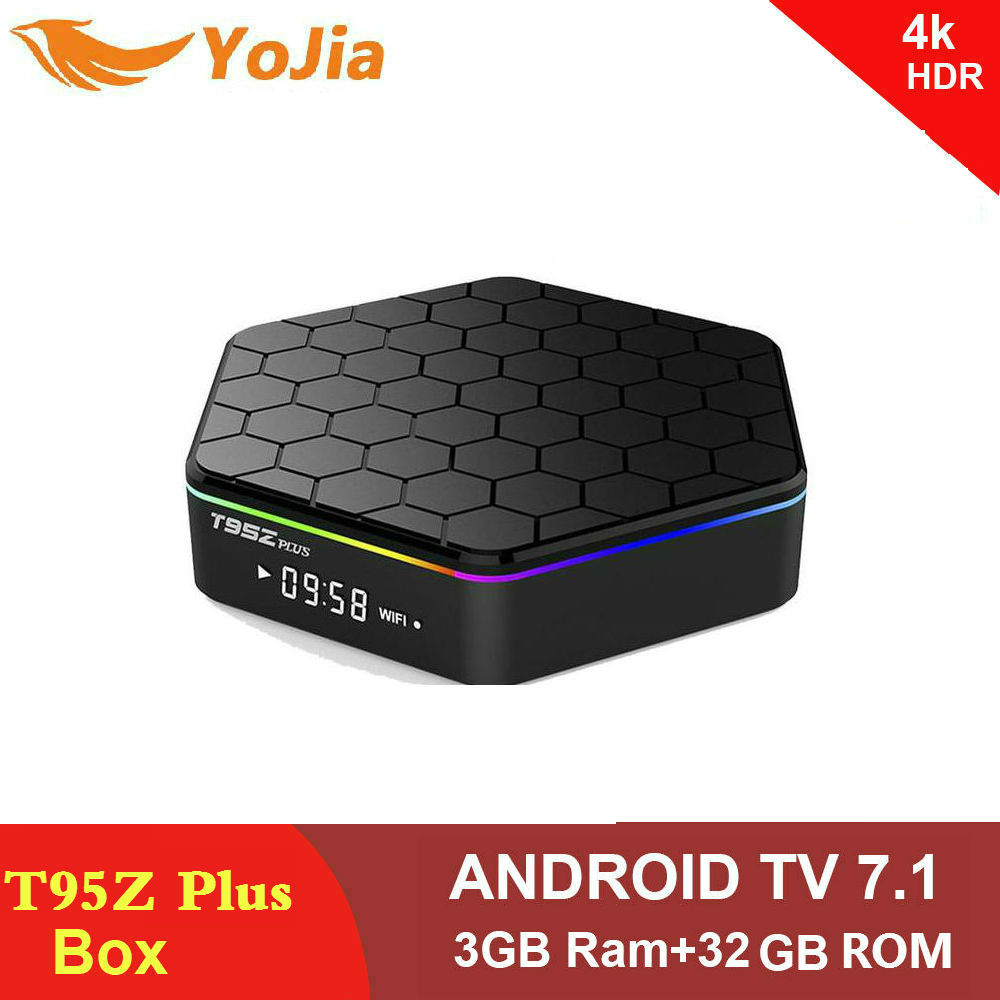 Yojia 3g/32g Android 7.1 TV BOX T95Z Plus Amlogic S912 OctaCore 2G16G T95Z + Smart Set top box 2.4g/5 ghz Double WiFi BT4.0