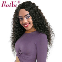 RUIYU Lace Front Human Hair Wigs For Black Women Deep Wave Brazilian Hair Wig With Baby